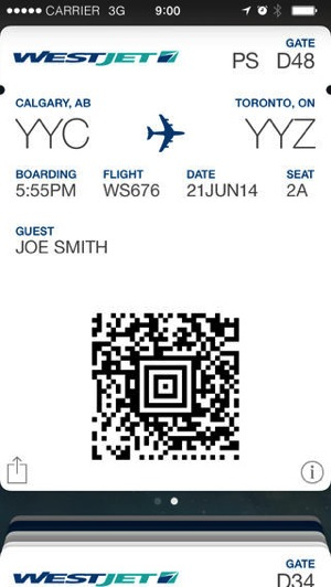 Westjet Iphone App Launches With Passbook Support Trip