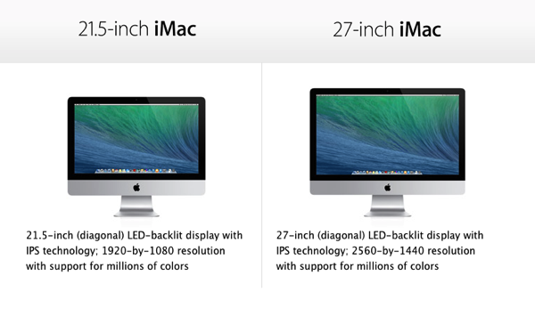 21 and 27 inch iMac