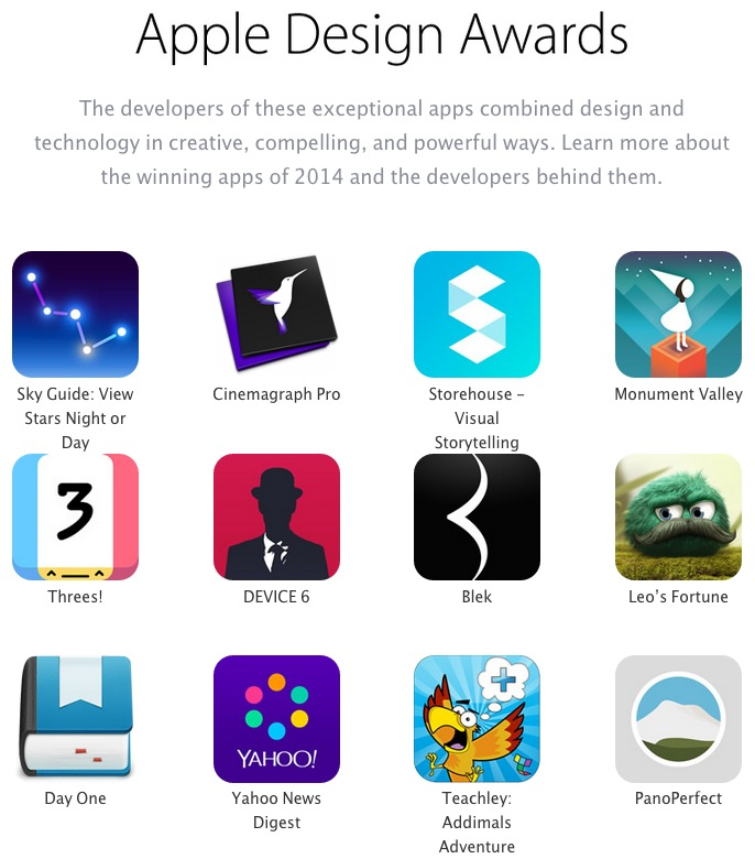 apple design awards page 2014