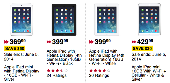 2 Day Ipad Sale At Best Buy Future Shop Ipad Air For 469 Retina