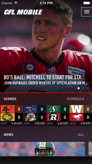 CFL Launches Redesigned iPhone App
