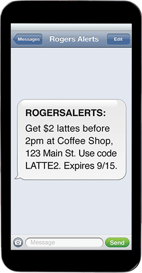 Sign Up with Rogers Alerts, Get 1500 First Rewards Points or $5