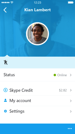 Skype 5 0 iphone profile