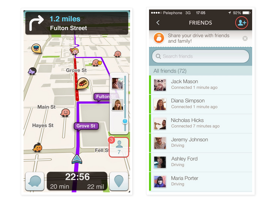 Google's Waze For iOS and Android Updated With New Sharing Features