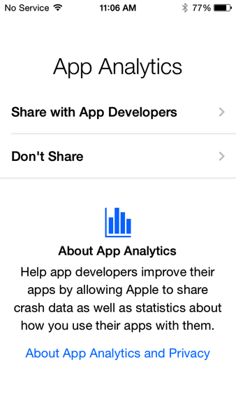 App analytics ios 8