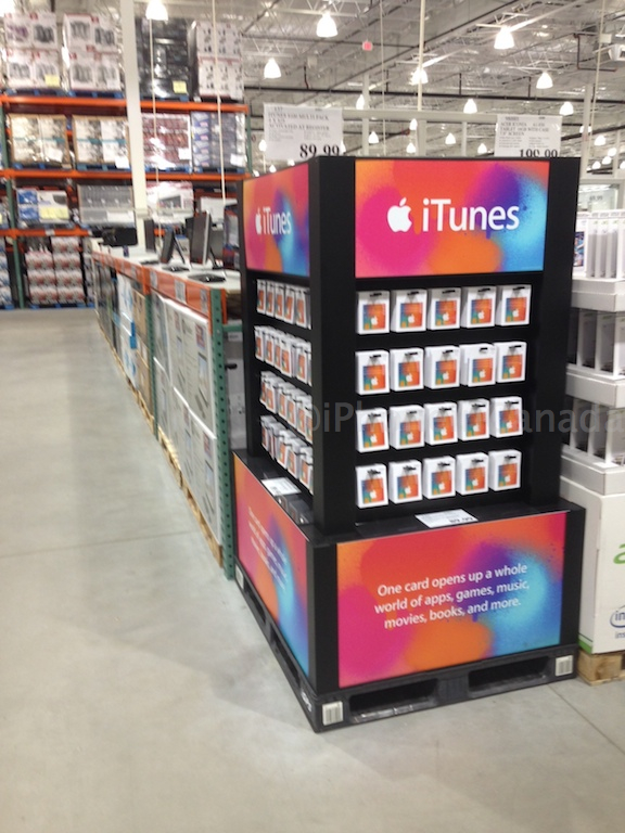 costco itunes cards canada