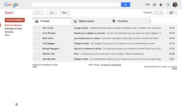 Gmail canadian french
