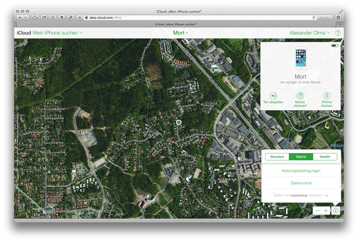 Apple Takes its Maps to the Web in New 'Find My iPhone' Beta