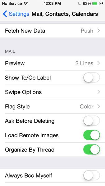 Mail swipe