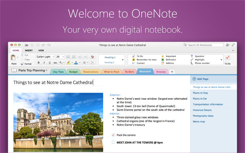 Microsoft OneNote For iOS and Mac Updated With New Features