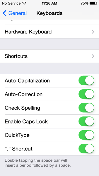 Quicktype ios 8
