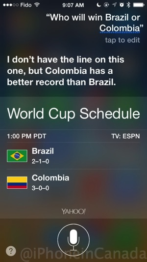 Siri world cup 2