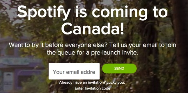 Music Service Spotify Launches In Canada With Invite Only