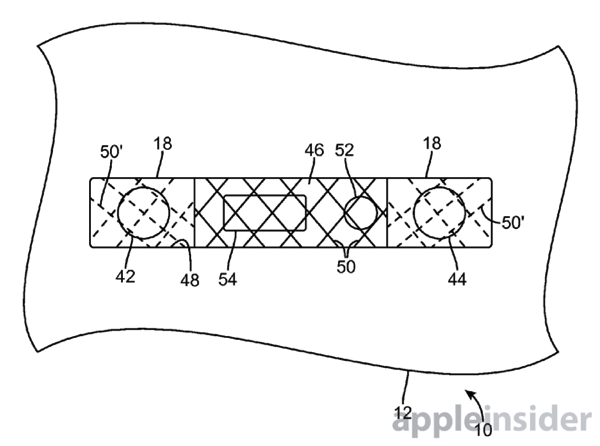 Apple patent speaker port mesh