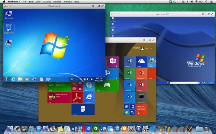 XP Win7 Win8 on Mavericks