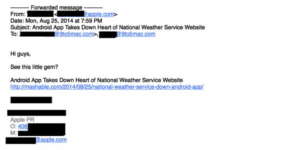 Apple pr email