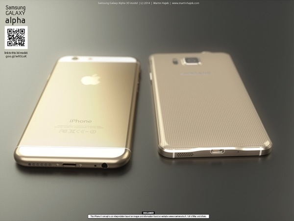 Galaxy alpha vs iphone 6 e