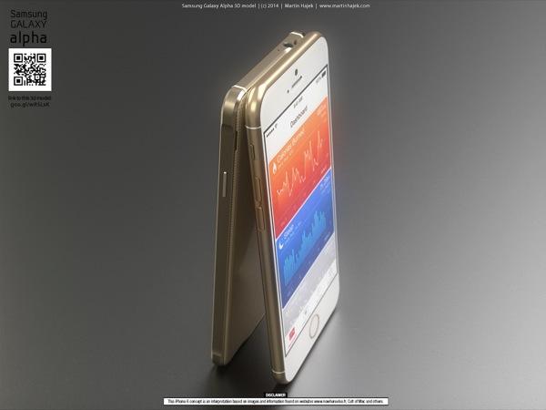 Galaxy alpha vs iphone 6 h