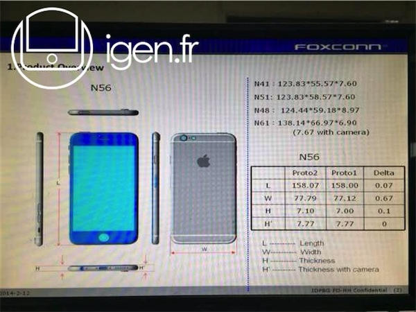 Iphone 6 dimension leak 1