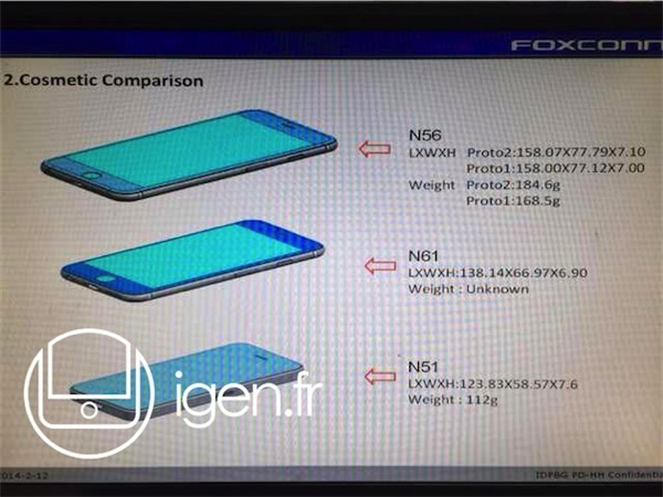 Iphone 6 dimension leak 2