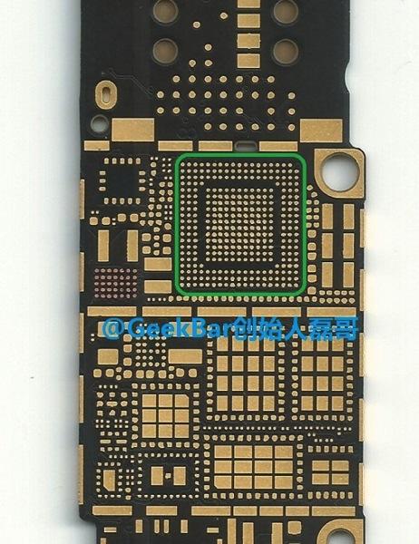 Qualcomm MDM9625 on iphone 6 pcb