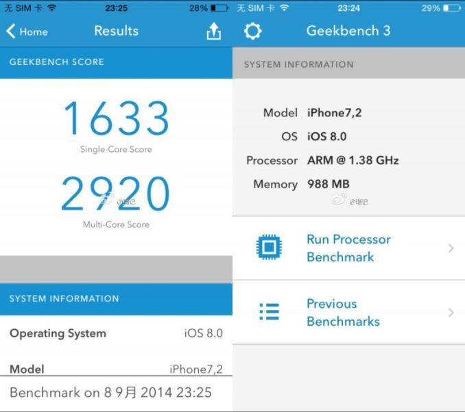 Geekbench iPhone 6