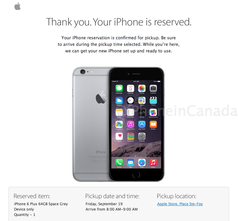 iphone 6 reservations pre-order
