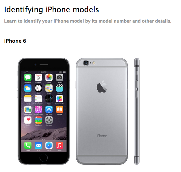 how to tell which iphone you have apple explains how to identify iphone 6 and iphone 6 plus 20365