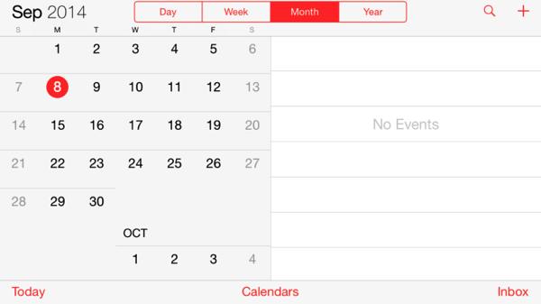 Ios simulator calendar