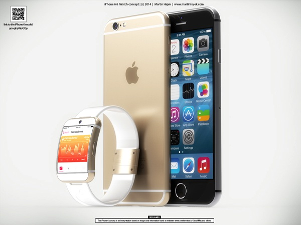 Iwatch iphone 6 gold hero