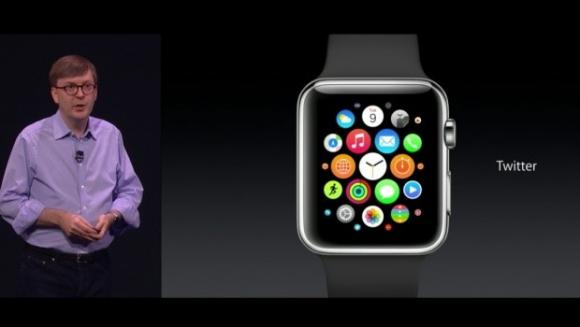 Apple VP Kevin Lynch speaks about the watch presented by Apple during an event at the Flint Center in Cupertino, California September 9, 2014.  REUTERS/Courtesy Apple