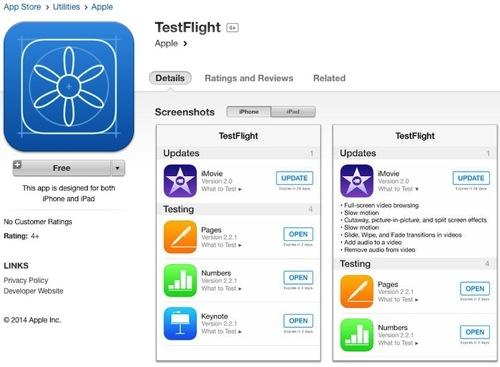 Testflight ios 8 app