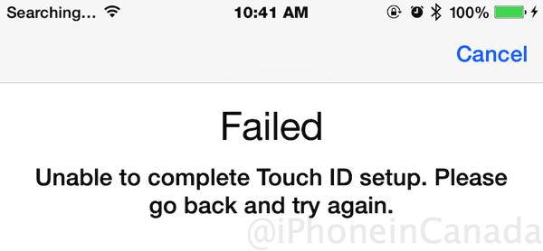 Touch id fail ios 8 0 1