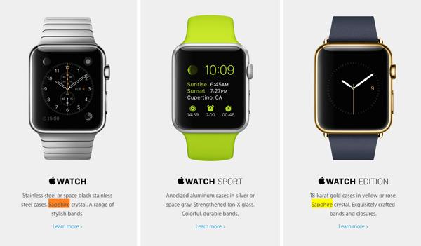 Apple watch versions