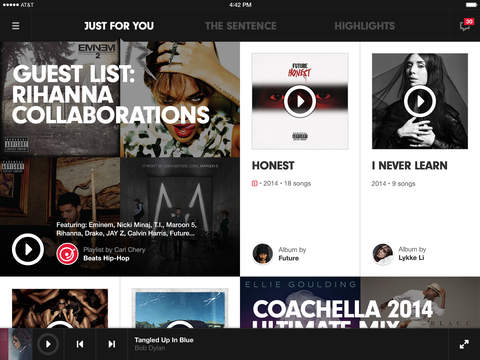 Beats music ipad