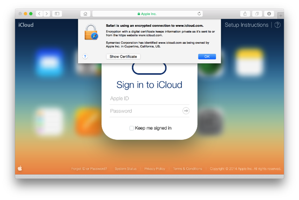 Apple Details How to Verify Secure Connection to iCloud.com