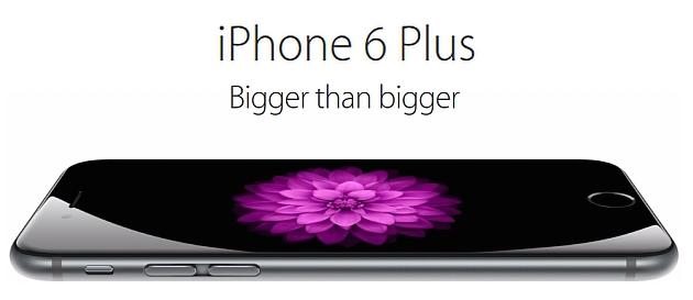 Iphone 6 plus bigger than bigger new