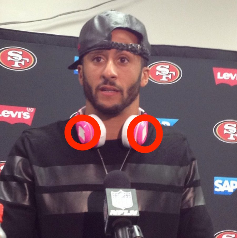 Kaepernick beats headphones