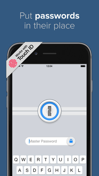 Touch id 1password