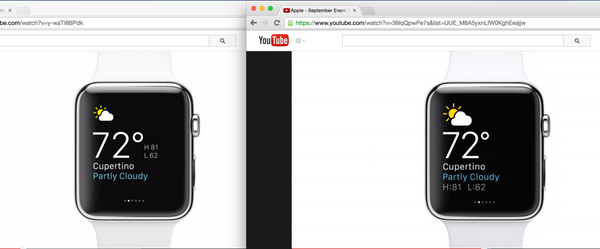 Ui differences apple watch video