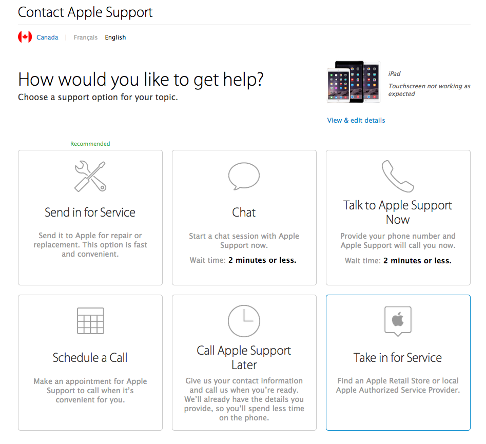 apple updates product support page with new genius bar reservation