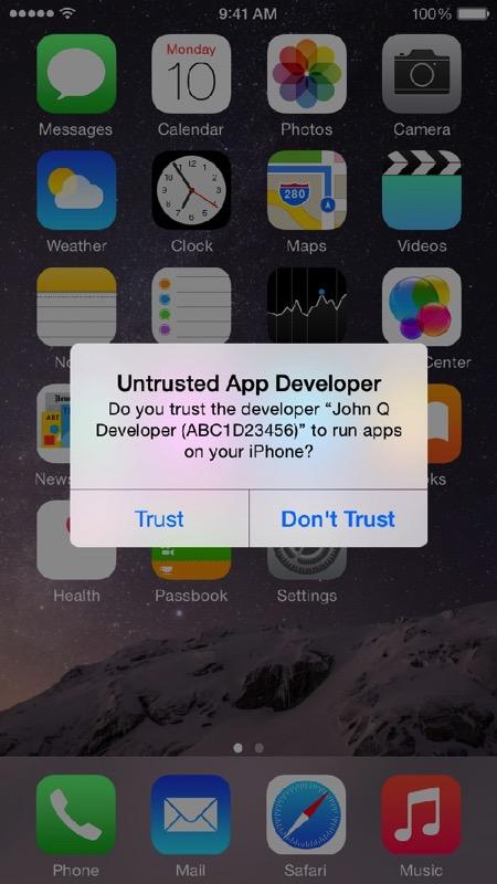 Trust alert 1