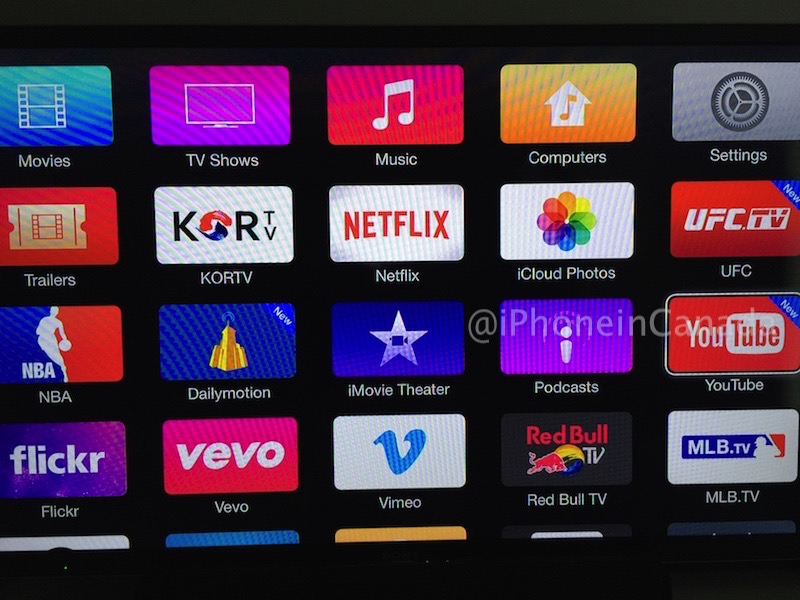 Apple Tv In Canada Gets New Youtube Ufc And Dailymotion Apps Pics
