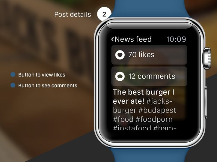 Instagram apple watch concept png