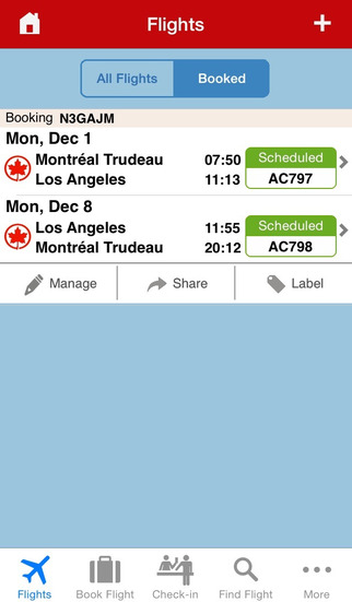 Air canada iphone