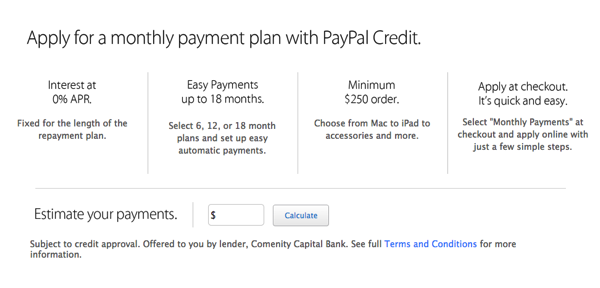 Apple online store paypal