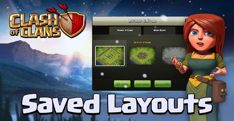Clash of clans saved layouts
