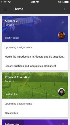 Google classroom ios