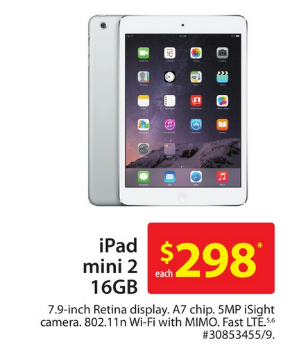 16gb Ipad Mini 2 On Sale For 298 At Walmart Tomorrow Iphone In