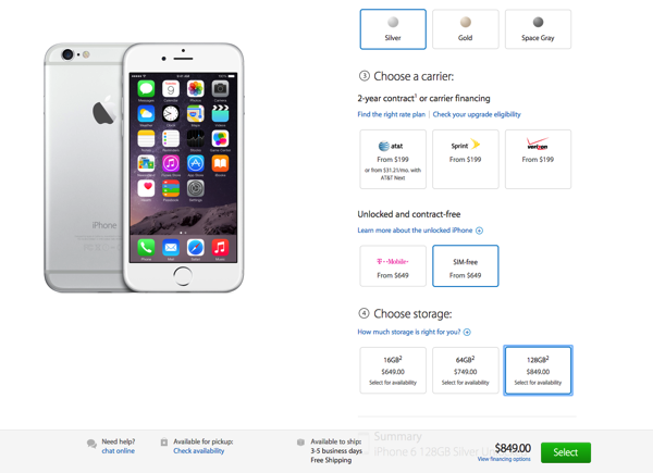 Iphone 6 us store